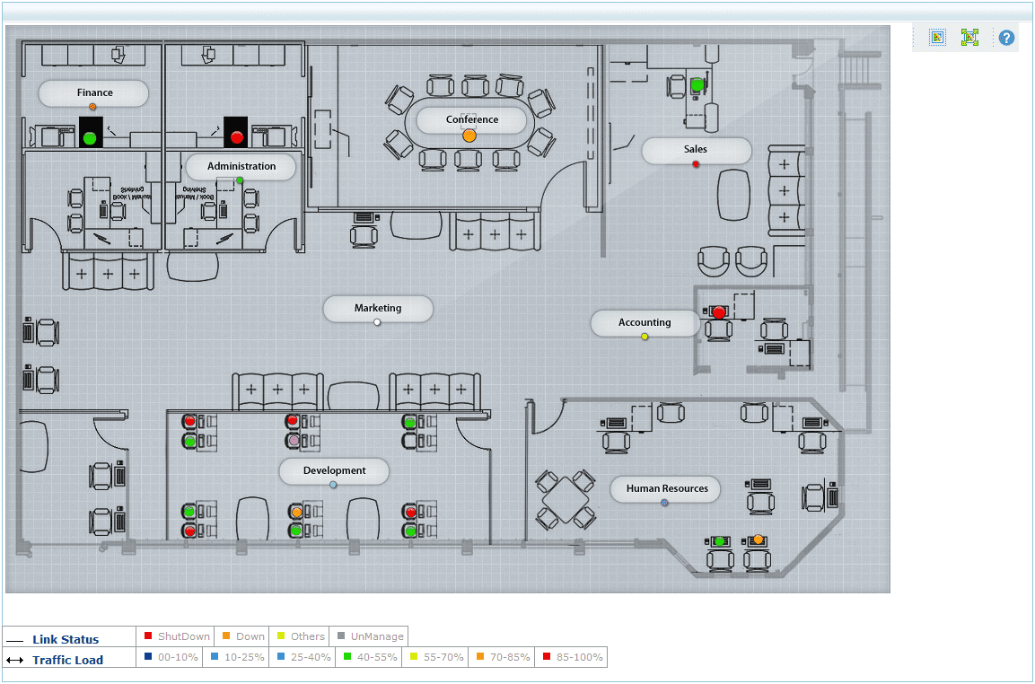 Mapa LAN