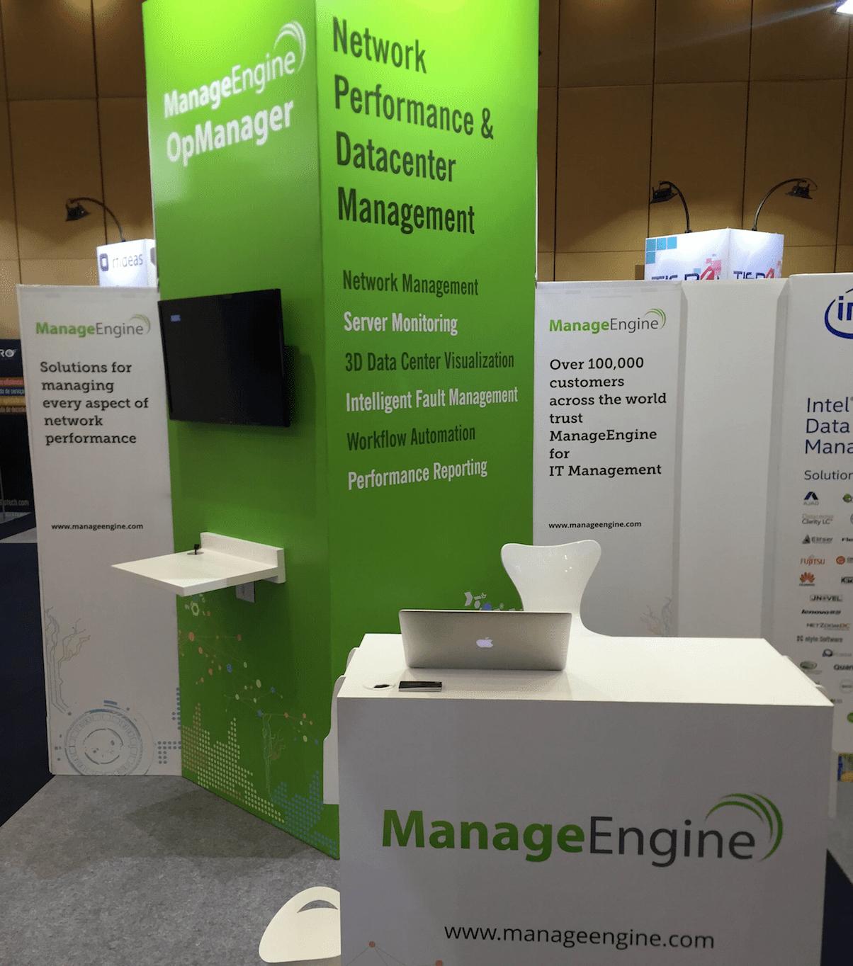 Estande ManageEngine - Conferência Gartner 2015