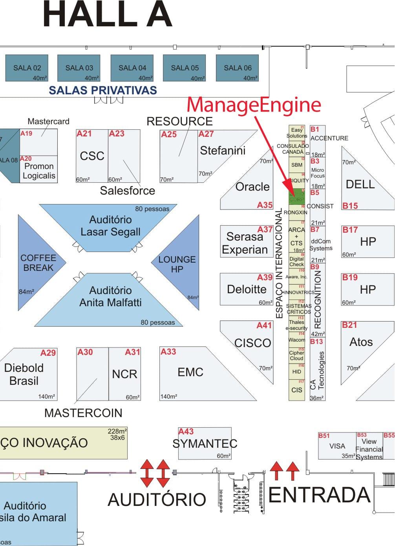 ManageEngine - CIAB 2015 mapa